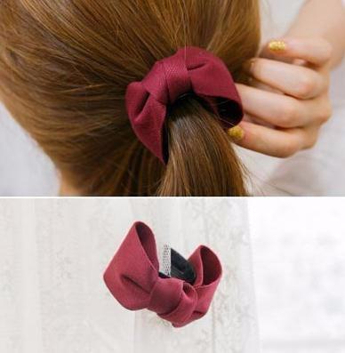 ヘアクリップ アンティーク風 可愛い小さなリボンモチーフ バンスクリップ 「ヘアアクセサリー 髪飾り 簡単ヘアアレンジ」