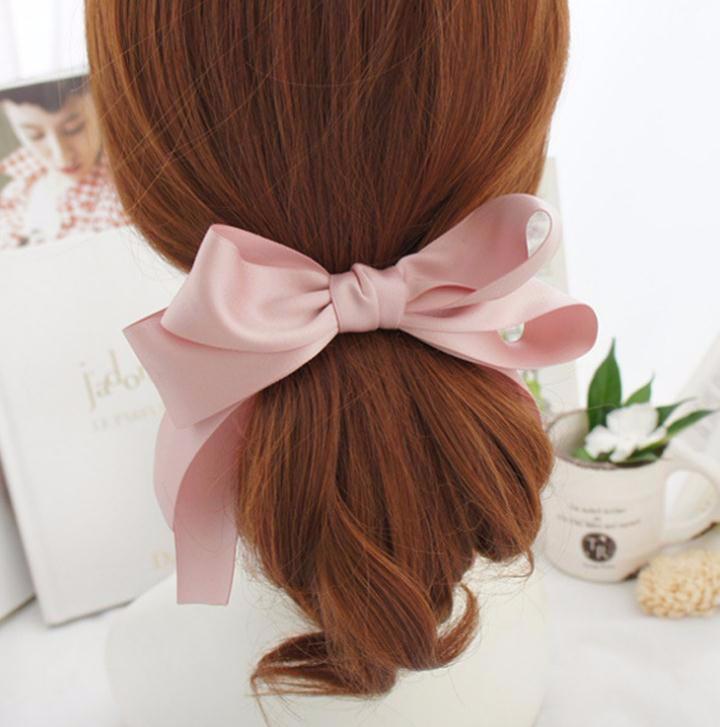 バレッタ アンティーク風 可愛い小さなリボンモチーフ バンスクリップ 「ヘアアクセサリー 髪飾り 簡単ヘアアレンジ」
