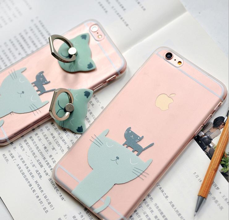 可愛い 猫 iPhoneケース iPhone6Sケース iPhone6ケース iPhone6S plus ケース