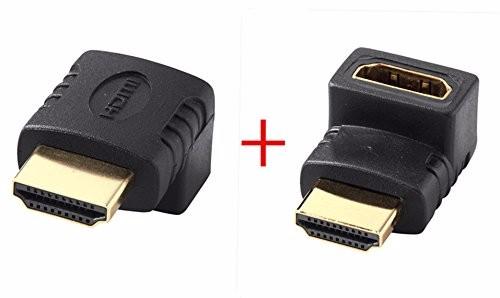 HDMIケーブル変換アダプタ オス/メス 90度+HDMIアダプタ270度(L型下+上 2 pc set)