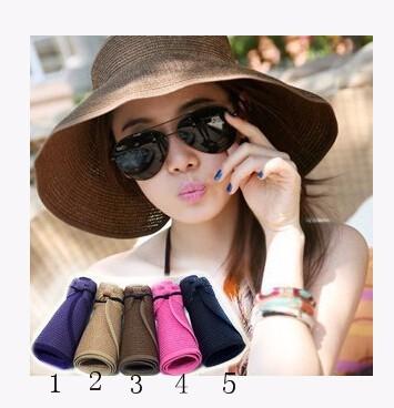 夏新作★サンバイザー UV★ 人気★ レディース麦わら帽子 全6色