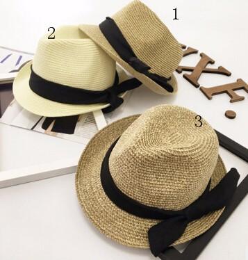 夏新作★韓国風★トッパー★手織り中折麦わら帽子★日除け帽★リボン付き