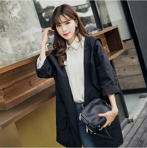 韓国版薄い機種やせ帽子でさえゆったり长款系帯パーカコート