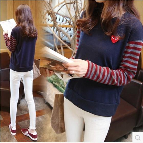 韓国風の女性のコサージュの長そでの長そでの長そでの長そでの長袖のはゆったりしてやせています