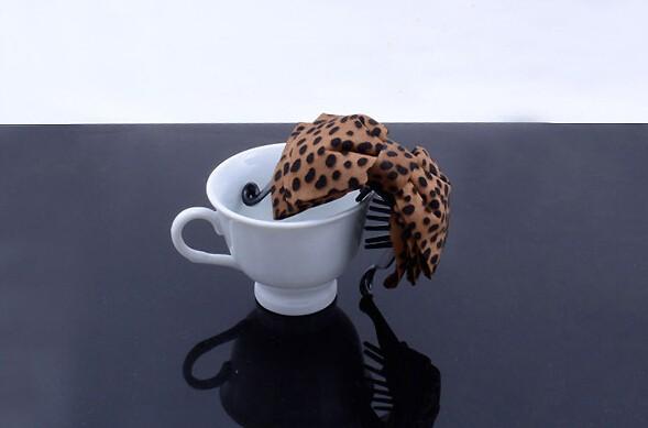 ヘアクリップ 韓国風 布づくり 豹柄 蝶結びのバナナクリップ  ヘアアクセサリー