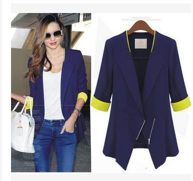 欧米スタイルのスリムの七分袖のショートジャケットのスリム効果の薄型タイプのジャケット
