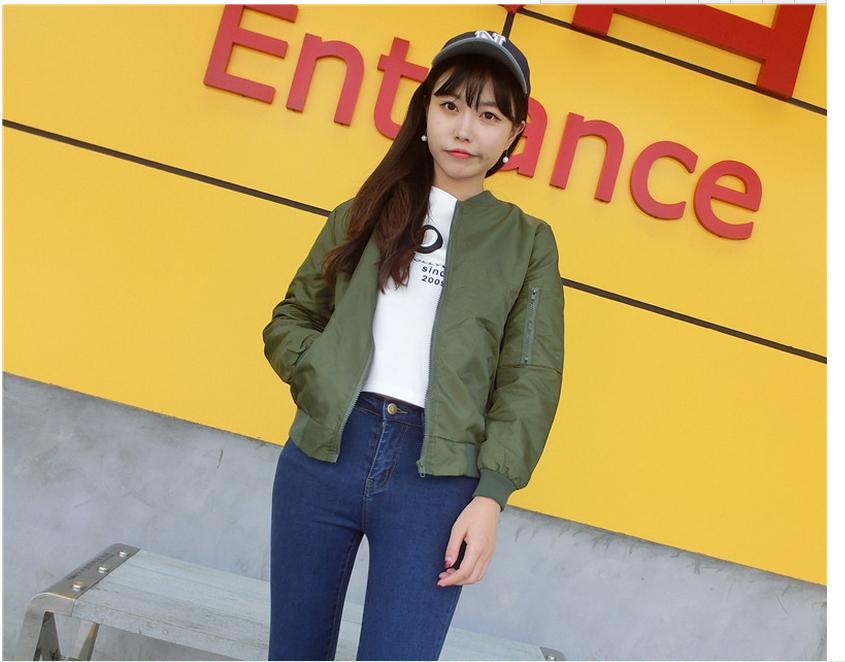 韓国版純色野球服コート-1