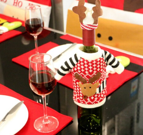【2016クリスマス】ヘラジカモチーフのワイン袋/ボトルカバー