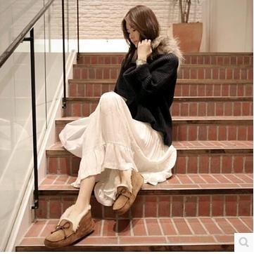 新型    秋冬   マントのマント   毛糸のセーター  アウター   全くむだにつなぎ合わせます  スカート   スーツ
