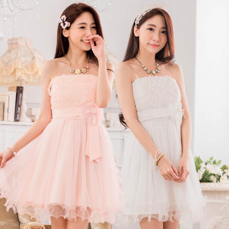 大きいサイズ ウエストリボンで可愛く♪結婚式、パーティードレス ミニドレス ☆ F LL 3L 4L J9733 チュール切替 花嫁、二次会、披露宴ドレス フォーマル