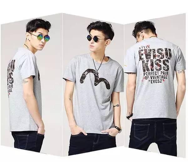 EVISU メンズ Tシャツ 上品上質Tシャツ 工場直売 正品激安ご提供