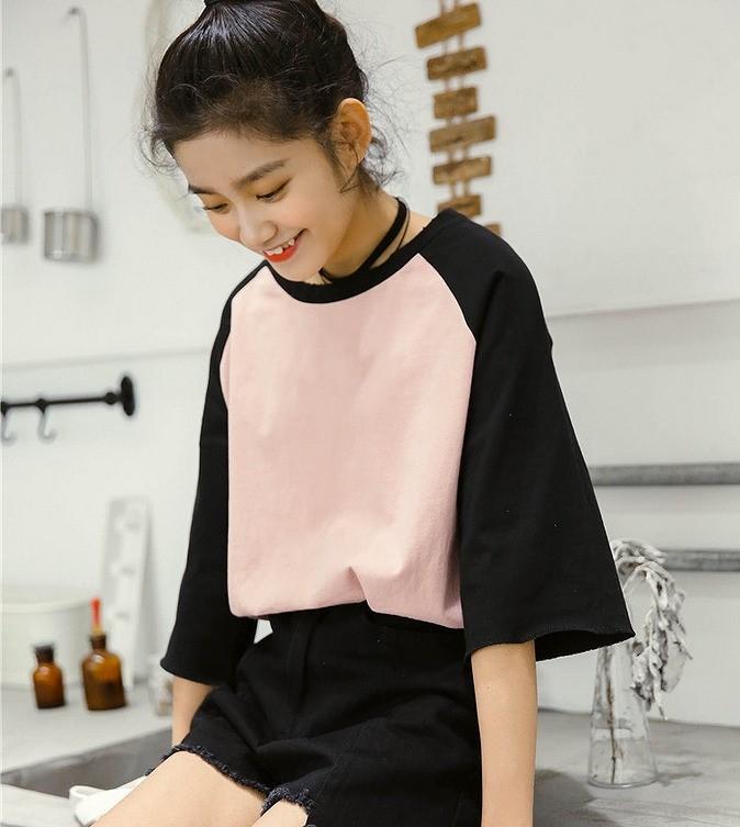 Tシャツ◆ピンク/ホワイト2色★gtb3255t-7gd【2017春夏商品】