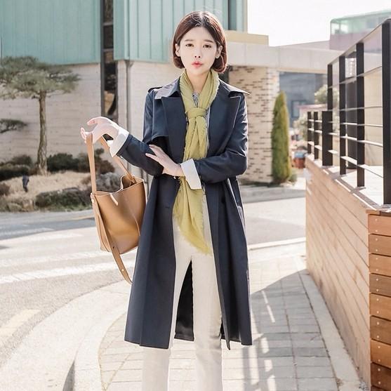 オススメ!韓国ファッションロングトレンチコート